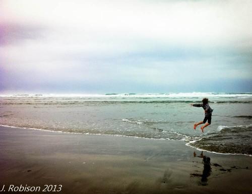 Ian at the beach